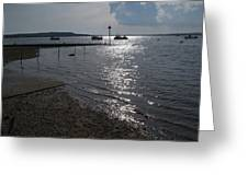 Christchurch Harbour Viewed From Mudeford Greeting Card