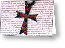 Christian  Cross Greeting Card by Cynthia Amaral