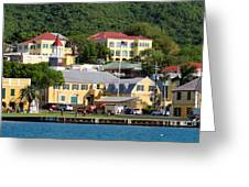Christiansted Water Front Greeting Card