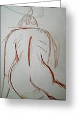 Christina - Life Drawing Greeting Card