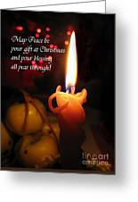 Christmas Candle Peace Greeting  Greeting Card