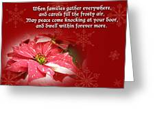 Christmas Card - Red And White Poinsettia Greeting Card
