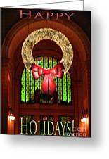 Christmas Card Wreath Color Greeting Card