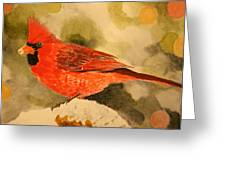 Christmas Cardinal Greeting Card