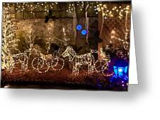 Christmas Carriages Greeting Card by DigiArt Diaries by Vicky B Fuller