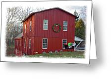 Christmas Eve At Williston Mill Greeting Card