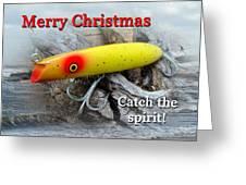 Christmas Greeting Card - Gibbs Darter Vintage Fishing Lure Greeting Card