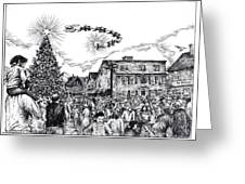 Christmas In Dock Square Rockport Greeting Card