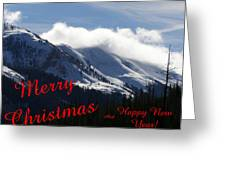 Christmas In The Mountains Greeting Card