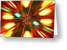 Christmas Light Abstract Greeting Card