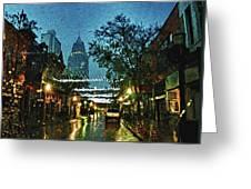 Christmas Lights Down Dauphin Street Greeting Card