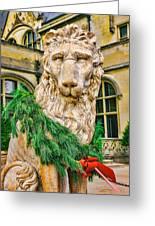 Christmas Lion At Biltmore Greeting Card