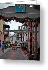 Christmas On Aviles Street Greeting Card