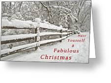 Christmas Path Greeting Card
