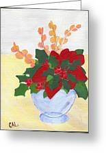 Christmas Poinsetta Greeting Card