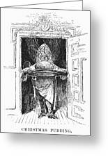Christmas Pudding, 1882 Greeting Card