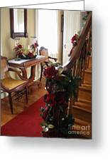 Christmas Rose And Stairs  Greeting Card