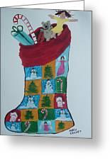 Christmas Sock Greeting Card