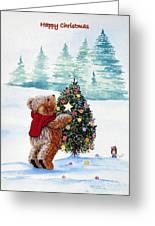 Christmas Star Greeting Card by Gordon Lavender