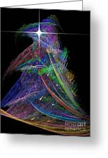 Christmas Tree 49b Star Greeting Card