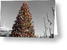 Christmas Tree At Pier 39 Greeting Card