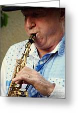 Christopher Mason Alto Sax Player Greeting Card
