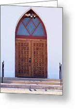 Christ's Red Door Greeting Card