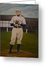 Christy Mathewson Greeting Card by Mark Haley