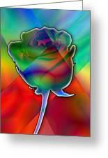 Chromatic Rose Greeting Card
