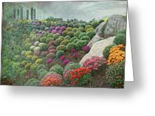 Chrysanthemum Garden - Ott's Greenhouse Schwenksville Pa Greeting Card
