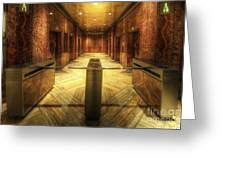Chrysler Building Elevator Lobby Greeting Card
