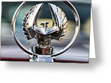 Chrysler Imperial Hood Ornament Greeting Card