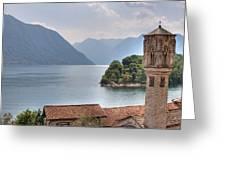 church at the Lake Como Greeting Card
