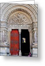 Church Entrance Arles France Greeting Card