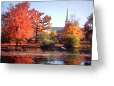 Church In Autumn Greeting Card