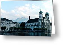 Church In Lucerne Greeting Card