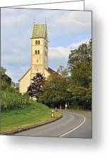 Church In Meersburg Germany Greeting Card