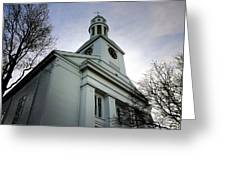 Church In Perspective Greeting Card