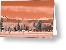 Church In The Mountains Greeting Card