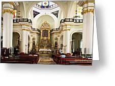 Church Interior In Puerto Vallarta Greeting Card