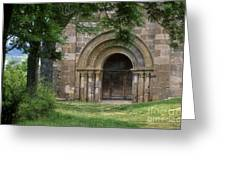 Church Of Bredons.cantal. France Greeting Card