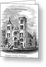 Church Of The Puritans Greeting Card