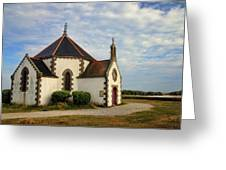 Church Off The Brittany Coast Greeting Card