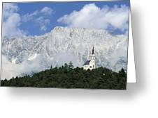 Church On Hilltop Greeting Card