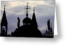 Church Spires Silhouettes Greeting Card