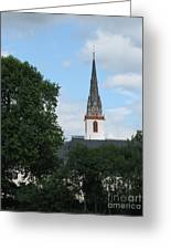 Church Steeple Greeting Card by Arlene Carmel