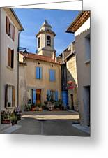 Church Steeple In Provence Greeting Card