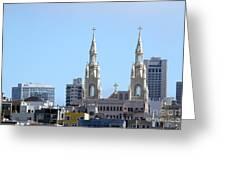 Church Top San Francisco Greeting Card