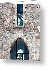 Church Windows Greeting Card by Shirley Mitchell