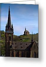 Churches Of Lorchhausen - Color Greeting Card
